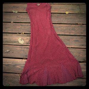 Per Una red w/ white polka dots sleeveless dress
